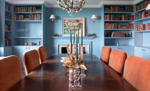Blyth-Collinson Interior Design Marine Blue walls